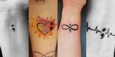 meaning behind semicolon tattoo colors and symbols