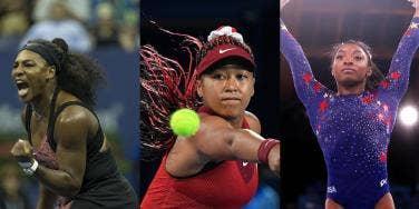 Serena Williams, Naomi Osaka & Simone Biles