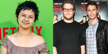 Charlyne Yi, Seth Rogen and James Franco