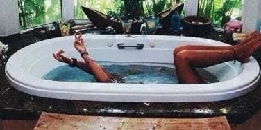 lady in bath tub