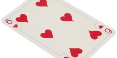 six of hearts card