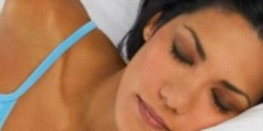 woman sleeping alone