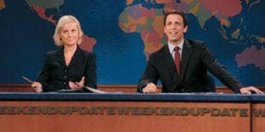 Amy Poehler and Seth Meyers on SNL