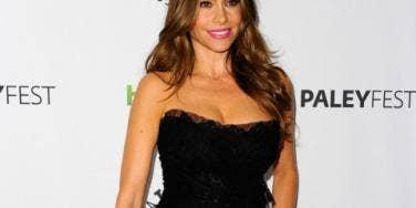 Sofia Vergara black dress