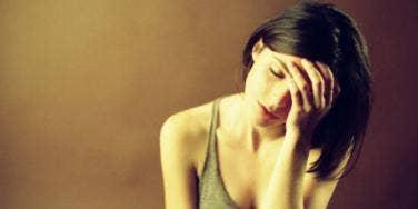 bummed woman