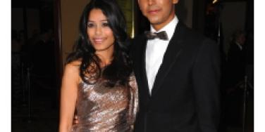 Freida Pinto and Dev Patel