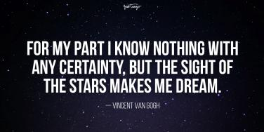 vincent van gogh star quote