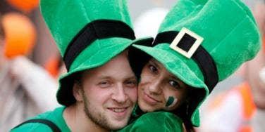 couple celebrating St. Patrick's Day