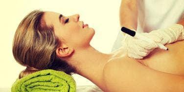 woman getting nipple surgery