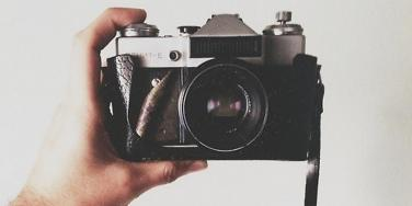 selfie with camera