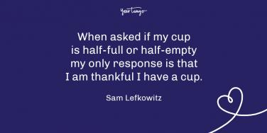 Sam Lefkowitz Thanksgiving quote