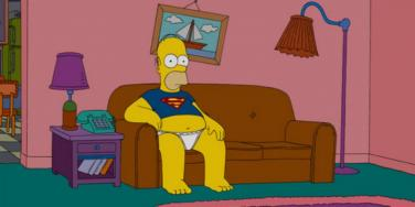 homer watching TV