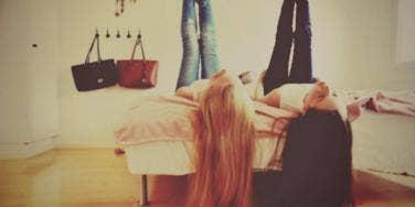 tweens in bedroom