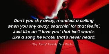 twenty one pilots lyrics shy away
