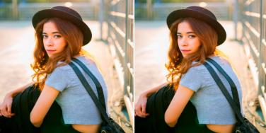 young woman empath