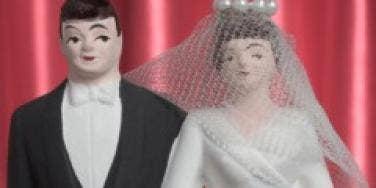 wedding cake toppers man woman bride groom