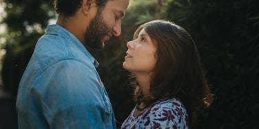 woman looking at man