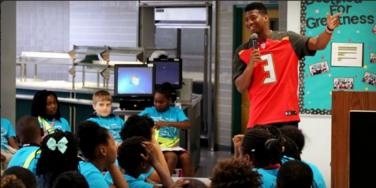 Tampa Bay Buccaneer Jameis Winston Tells 5th Grade Girls To Sit Down & Be Quiet
