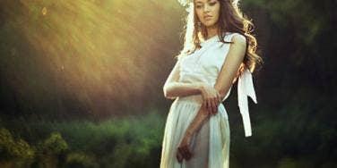 woman in Greek dress