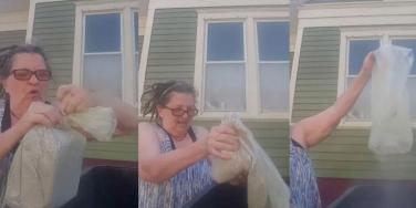 Woman Throws Ashes Of Her Abusive Husband In The Trash After His Death