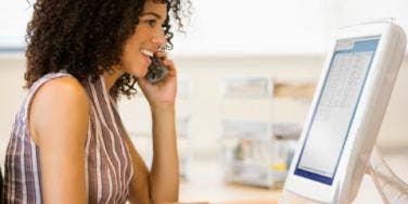 woman career computer