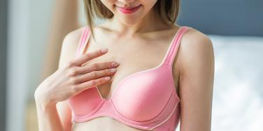 woman with small boobs wearing a bra
