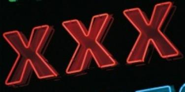 xxx triple-x porn porno pornography sign