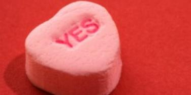 yes candy heart