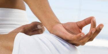 yoga pose om