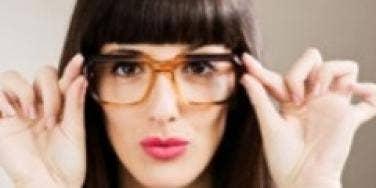 smart nerdy girl glasses