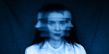 woman's face blurred