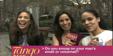 three girls answering question