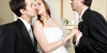 Bride Kissing Best Man