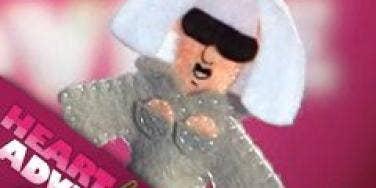 lady gaga felt puppet