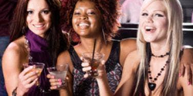 three girls in club