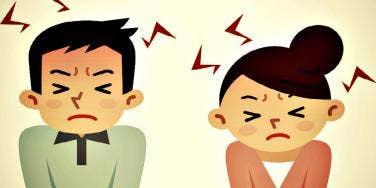 angry guy and girl