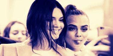Cara Delevinge and Kendall Jenner