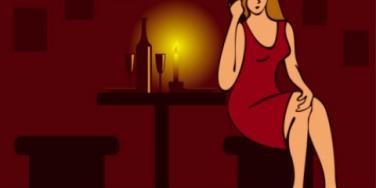 women alone on date