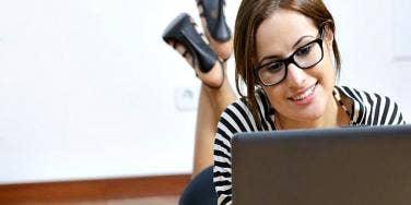 girl on laptop.