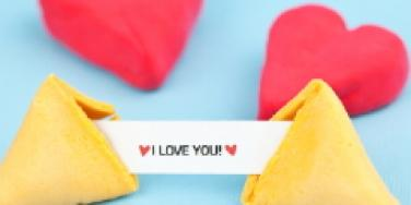 hearts and fortune cookie