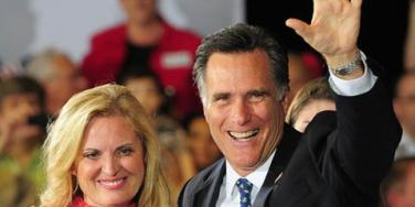Mitt Romney and wife Ann Romney on the campaign trail