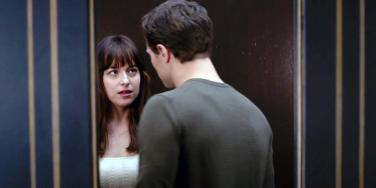 Dakota Johnson and Jamie Dornan as Ana Steele and Christian Grey in the '50 Shades Of Grey' movie