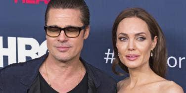 Brad Pitt Angelina Jolie Side By Side