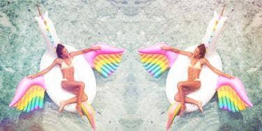 Rainbow Pegasus Unicorn Pool Float
