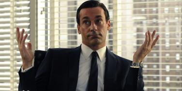 Jon Hamm as Don Draper from Mad Men