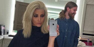Kim Kardashian blonde hair Instagram