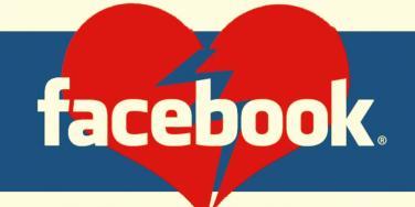 broken facebook heart