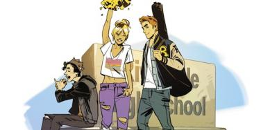 Archie Comics are sexy now for some reason, as seen here in this snap of Archie, Betty and Veronica.