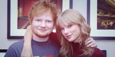 "Platonic best friends Ed Sheeran and Taylor Swift backstage at Madison Square Garden in New York City for Taylor Swift's ""RED"" tour"