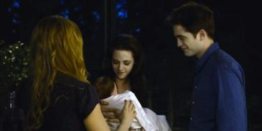 Kristen Stewart and Robert Pattinson in Twilight Saga Breaking Dawn